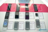 A wall of upcoming LG phones