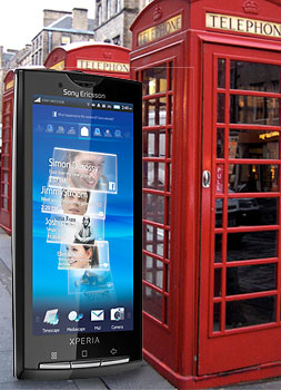 Sony Ericsson XPERIA X10 Available in the Uk…February!