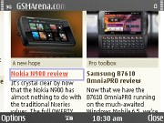Nokia E72 screenshot