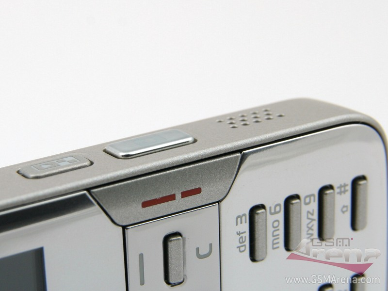 Nokia N82's right side hosts the stereo speakers, the camera and
